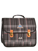 Satchel 2 Compartments Poids plume Gray be all over color PCO1538