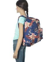 Sac à Dos 1 Compartiment Roxy Bleu back to school JBP03266-vue-porte