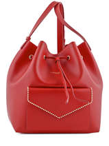 Sac Bandouliere Porte Travers Pearl Cuir Lancaster Rouge pearl 528-35