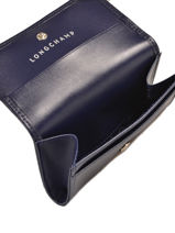 Longchamp Honoré 404 Porte monnaie Bleu-vue-porte