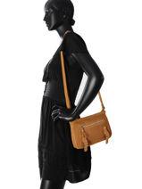 Shoulder Bag Avana Fuchsia Brown avana F9657-3-vue-porte