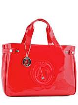 Cabas Vernice Lucida Verni Armani jeans Rouge vernice lucida 5291-55