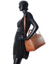 Longchamp Travel bag Brown-vue-porte