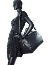 Longchamp Le foulonné Sac de voyage Noir-vue-porte