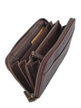 Wallet Leather Cowboysbag Brown sturdy romance 1304-vue-porte