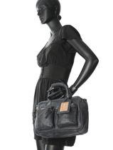 Top Handle Cowboysbag Blue sturdy romance 1346-vue-porte