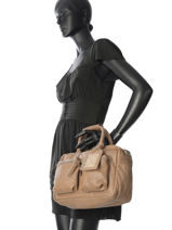 Sac The Little Bag Romance Cuir Cowboysbag Marron sturdy romance 1346-vue-porte