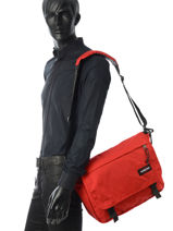 Sac Bandoulière A4 Eastpak Rouge authentic K076-vue-porte