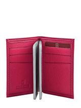 Card Holder Leather Hexagona Pink confort 461007-vue-porte