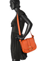 Shoulder Bag Maxine Leather Michael kors Orange maxine H6TUZM3L-vue-porte
