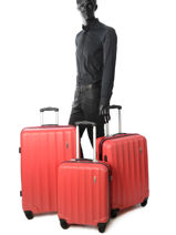 Luggage Set Barcelone Travel Red barcelone 1412-LOT-vue-porte
