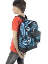 Sac à Dos 1 Compartiment Quiksilver Bleu backpacks QYBP3337-vue-porte