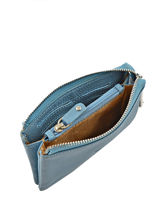Purse Leather Crinkles Blue 14538-vue-porte