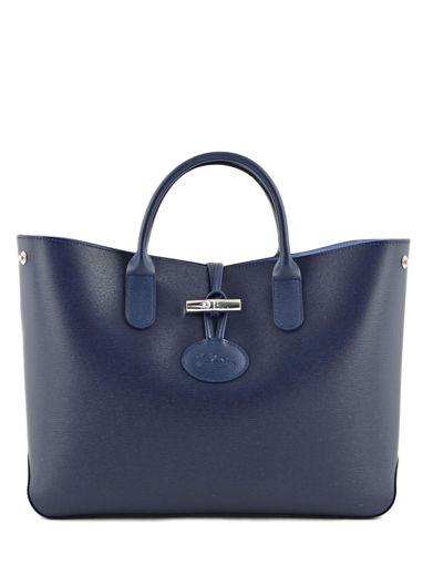 Longchamp Sac porté main Bleu