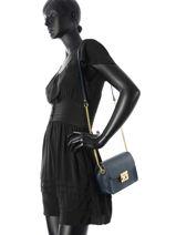 Shoulder Bag Palma Leather Milano Blue palma PA15092-vue-porte