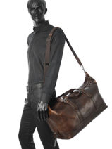 Travel Bag Roma Leonhard heyden Brown roma 5376-vue-porte