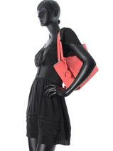 Shoulder Bag Kyo Leather Etrier Red kyo EKY602-vue-porte
