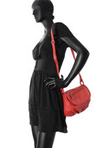 Shoulder Bag Vintage Leather Nat et nin Red vintage JEN-vue-porte
