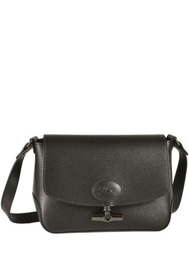 Longchamp Roseau Sacs porté travers Noir