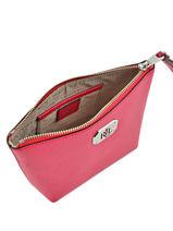 Case Leather Lauren ralph lauren Red new bury N79L7578-vue-porte