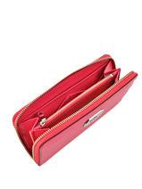 Wallet Leather Lauren ralph lauren Red new bury N79L7885-vue-porte