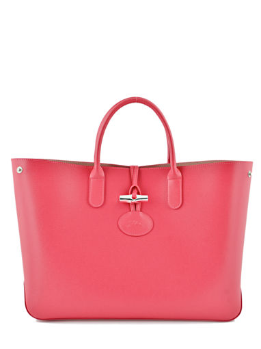 Longchamp Sac porté main Rouge