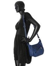 Shoulder Bag Celia Fuchsia Blue celia F9672-3-vue-porte