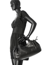 Sac Shopping 24h Gd Cuir Gerard darel Noir gd DES07410-vue-porte