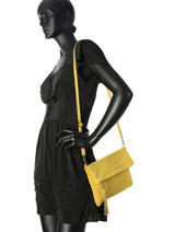Clutch Milano Yellow velvet stampa V2151101-vue-porte