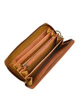 Wallet Leather Legend Beige vegetal JERSEY-vue-porte