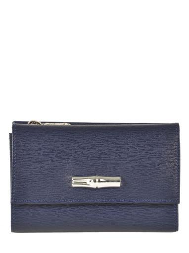 Longchamp Roseau Wallet Blue