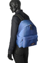 Backpack 1 Compartment A4 Eastpak Blue 620-vue-porte