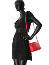 Shoulder Bag  Leather Lancaster Red 54723PBG-vue-porte