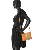 Shoulder Bag Shantay Leather Pieces Brown shantay 17081590-vue-porte