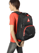 Backpack 1 Compartment Le coq sportif Black 1882 COY22037-vue-porte
