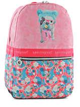 Backpack 2 Compartments Teo jasmin Pink teo kawai TEN22074