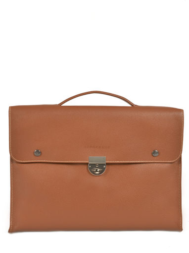 Longchamp Le foulonné Briefcase Brown