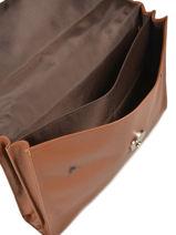 Longchamp Le foulonné Briefcase Brown-vue-porte