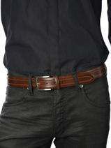 Belt Adjustable Petit prix cuir Brown sport Q908-vue-porte