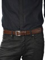 Belt Adjustable Petit prix cuir Brown sport 10751-vue-porte