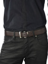 Belt Armani jeans Brown belt 6195-R4-vue-porte