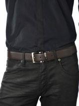 Ceinture Armani jeans Marron belt 6195-R4-vue-porte