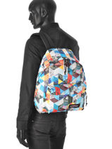 Sac à Dos 1 Compartiment A4 Eastpak Multicolore pbg authentic PBGK620-vue-porte