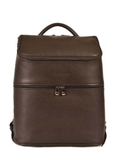 Longchamp Le foulonné Backpack Brown