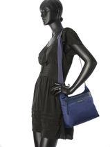 Longchamp Sacs porté travers Violet-vue-porte