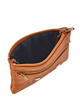 Purse Leather Foures Brown - 00009102-vue-porte