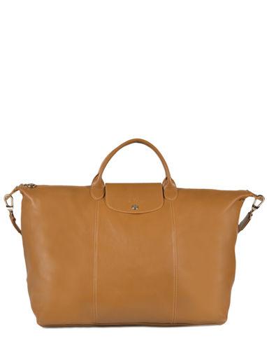 Longchamp Le pliage cuir Sac de voyage Beige