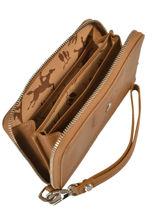 Longchamp Le pliage cuir Portefeuille Beige-vue-porte