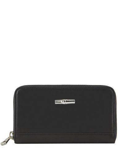 Longchamp Roseau héritage Wallet Black