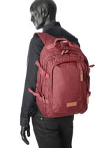 Backpack 3 Compartments Eastpak Red pbg core series PBGK207-vue-porte